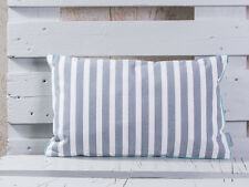 Pad Kissen CHETTO Streifen grau weiß gestreift Maritim Kissenhülle 30x50 Pad Con