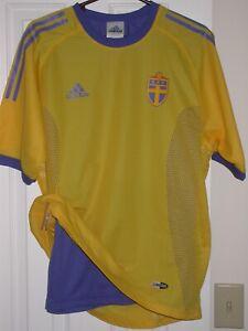 Sweden National Soccer Team 2002-04 Soccer Shirt/Jersey Adidas ClimaCool 2-Layer