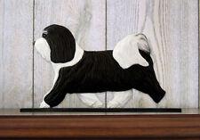 Havanese Dog Figurine Sign Plaque Display Wall Decoration Black/White