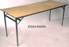 Folding Banquet Trestle Table 4ft Wood Clearance Item