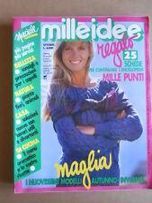 MILLEIDEE n°10 1988 - rivista di moda e lavori femminili  [C56]