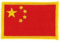 Patch Toppa Ricamata Bandiera Cina Cinese Termoadesivo