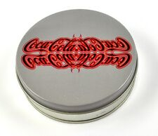 Coca-Cola Coke Tin Can Tin Box Sheet Metal Round Can Grey gespiegeltes Logo