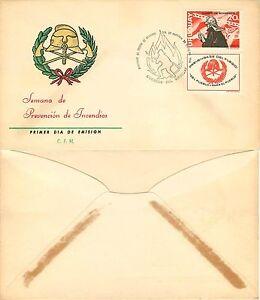 587 - Uruguay, FDC - Prevenzione incendi (pompiere, vigile fuoco), 21/10/1966