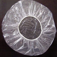 100Pcs/Pack Disposable Clear Spa Hair Cap Salon Home Shower Bathing Elastic Cap