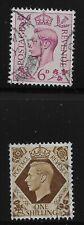 Great Britain Scott #243 & 248, Singles 1937-39 FVF Used