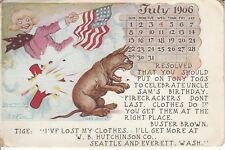 July 4th Buster Brown and Tige by Outcault 1906 Ad for Hutchinson Co.PL53
