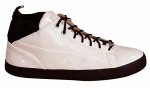 Puma Play Nude Mens Trainers Lace Up Mid Shoes Patent Leather 361469 03 B66D
