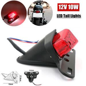 12V 10W LED Motorcycle Turn Signal Tail Light License Plate Light Lamp w/Bracket