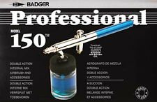 BADGER 150-7 PROFESSIONAL DOUBLE ACTION SUCTION FEED AIRBRUSH SET - NEW