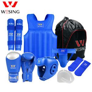 Wesing Boxing gear set Martial Arts equipment Sanda MMA Protective Gears 8pcs