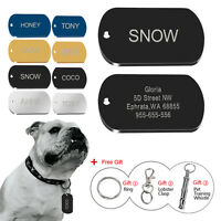 Custom Military Dog Tags Engraved Pet Name ID Collar Tags Engraved Free Whistle