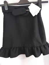 & Other Stories Black Frill Short Skirt Size 8 Ref Cl17
