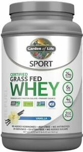 Sport Certified Grass Fed Whey Protein Isolate, 20 servings Vanilla
