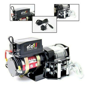 12V 3000LBS/1360KG Heavy Duty Electric Winch Steel Cable ATV 4x4 Truck Car Boat