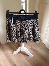 womens short animal print skirt (elasticated waist) Size 10