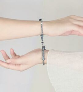 2Pcs Couple Bracelet Love Friendship Rope Magnetic attraction ball Lover's gift