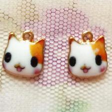 Fashion European mini 2PCS cat shape Pendant beaded Jewelry DIY Findings #728