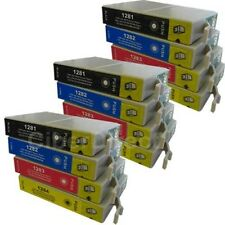 12 CiberDirect T1281 T1282 T1283 T1284 Ink Cartridges to fit Epson Printers