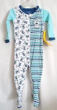 BOYS 18-24 MONTH BLUE STRIPED PUPPY BONE LIGHT SLEEPER NWT THE CHILDREN'S PLACE