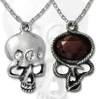 The Demon in my Head Pendant - Alchemy Gothic Skull/Snake Jewellery P661
