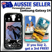 For SAMSUNG GALAXY S4 Personalised PHOTO case hard cover PICTURE LOGO customised