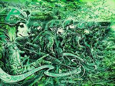 GREEN NAUGAHYDE VARIANT Primus 2014 Print Asheville NC Poster Signed Miles Tsang