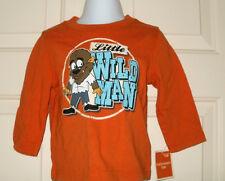 New Boys 12 Months Little Wild Man Halloween T-Shirt Long Sleeves 12M Werewolf