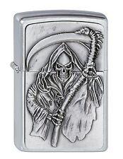 ZIPPO Benzin Feuerzeug Reapers Curse Emblem Sensemann Plakete NEU PORTOFREI