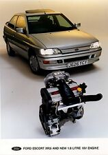 FORD 1.8 XR3i MK5 PRESS RELEASE ORIGINAL PHOTOGRAPH 1992