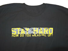 NEW men INCHWEAR XL X LARGE T SHIRT STAY HARD HOW DO YOU MEASURE UP BLK CREW i7