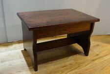 "10"" tall 11x16 Handcrafted Heavy Duty Wood Step Stool, Bedside Bed, Red Mahogany"