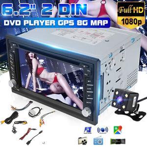 6.2'' Autoradio Stéréo 2 DIN bluetooth GPS SAT NAV DVD CD AUX USB Caméra Recel