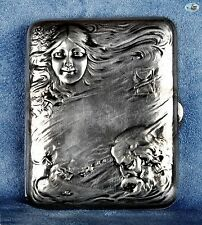 Antique Blackinton Silver Cigarette Case, Massachusetts, 1800-1900
