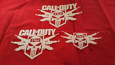 YOUTH ADULT T SHIRT HAT AIRBRUSH STENCILS CALL OF DUTY SET OF 3 FAST FREE SHIP!