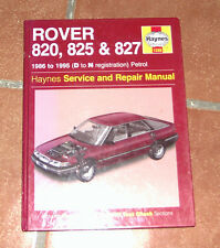 Rover 820 825 827 Haynes Workshop Manual de Taller / Reparación