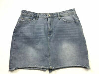 "Refuge Women Blue Denim Skirt Sz L Waist 32"" Length 15.5"""