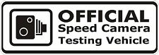 Bumper Sticker Speed Camera Testing Vehicle funny Decal Graphic Vinyl Label