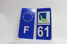 2 stickers REFLECHISSANT département 61+F