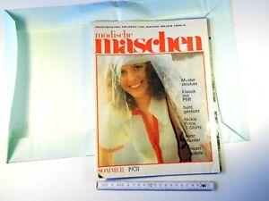 """Vintage 1978 knitting magazine for women """"Modische Maschen"""" GDR DDR German 656sr"""