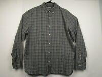 Mens Bonobos XL Gray Plaid Standard Fit Long Sleeve Button Front Casual Shirt