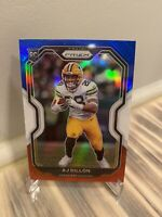 2020 Panini Prizm AJ Dillon Rookie Card Green Bay Packers Red White And Blue RC
