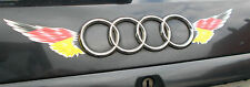 Deutschland Flagge Flügel Auto Aufkleber Metallic Car Decal 2-teiliges Set