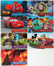 Set of 7 Different Disney Gift Cards 2015: Nemo,Buzz,Cars,Jake,Monsters Univ. ++