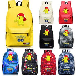 2021 New Pokemon Pikachu Cartoon Student Rucksack School Bag Kids gift UK