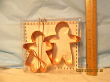 New listing Land O' Lakes 2003 Cookie Kids Copper Cookie Cutters & Recipes-Org Box & Ribbon