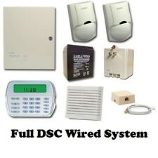 Full DSC Hard-wired Security System - PK5501 Keypad - PC 1616 Panel - 2 Motions