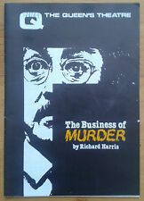 The Business of Murder programme Essex Queen's Theatre 1989 Richard Todd