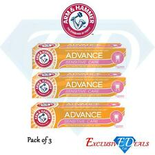 Arm & Hammer Toothpaste Advanced Sensitive Care Daily Protection Gentle x 3