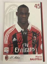 Autogrammkarte Mario Balotelli, AC Mailand, Milan 2012/13, Inter, FC Liverpool